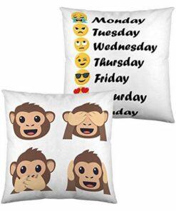 Almofada com Enchimento Emoji Days of the Week (40 x 40 cm)