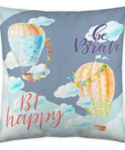 Capa de travesseiro Costura Happy Ballon (50 x 50 cm)