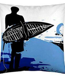 Capa de travesseiro Cool Kids Surfing USA (50 x 50 cm)