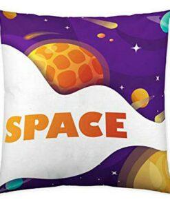 Capa de travesseiro Naturals Space Exploring (50 x 50 cm)