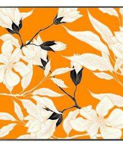 Pintura Orange Flower (100 x 2,5 x 100 cm)