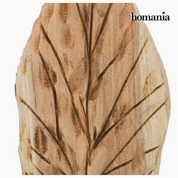 Figura Decorativa Folha Madeira by Homania