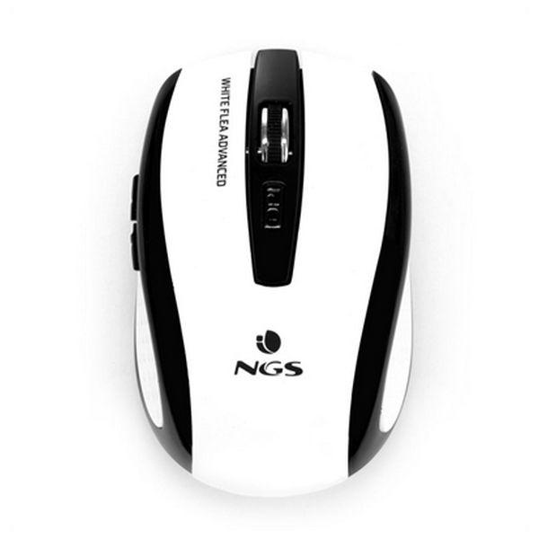 Rato sem Fios Ótico NGS White Flea Advanced 800/1600 dpi Branco Preto