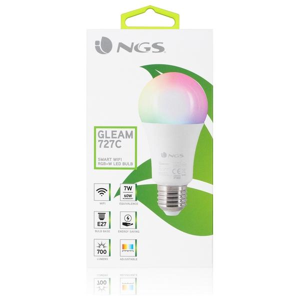Lâmpada Inteligente NGS Gleam727C RGB LED E27 7W