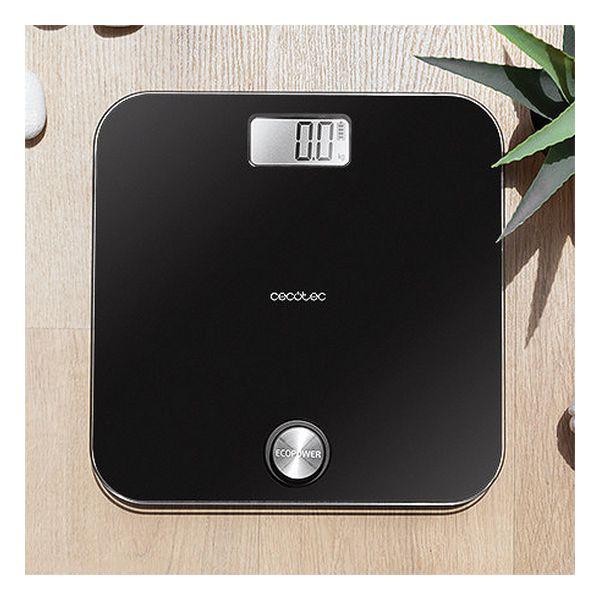 Balança digital para casa de banho Cecotec EcoPower 10000 Healthy Black LCD 180 kg Preto