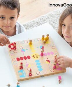 Jogo de Mesa de Madeira com Animais Pake InnovaGoods 18 Peças