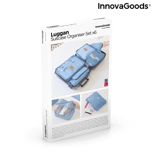 Conjunto de Bolsas de Organização para Malas Luggan InnovaGoods 6 Peças