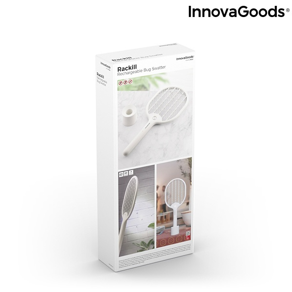 Raquete Anti-Insetos Recarregável com LED Rackill InnovaGoods