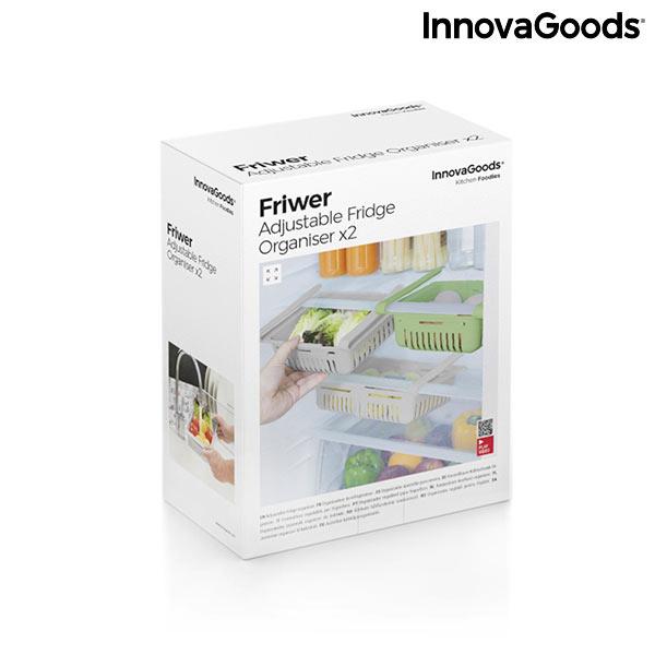 Organizador de Frigorífico Ajustável Friwer InnovaGoods (pack de 2)
