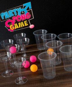 Jogo de Habilidade Party Pong 18 Peças