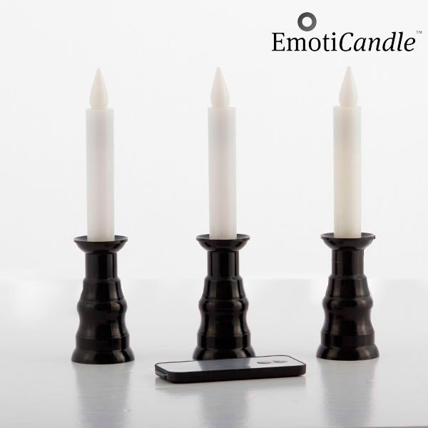 Velas LED Romantic Ambiance EmotiCandle (conjunto de 3)