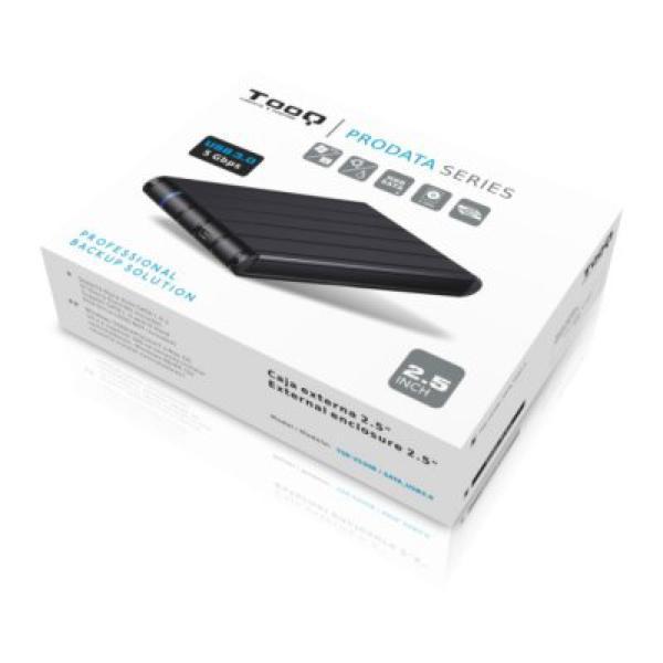 """Caixa externa TooQ TQE-2530B HDD 2.5"""" SATA III USB 3.0 Preto"""