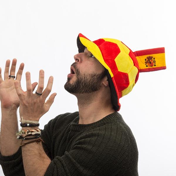 Chapéu Bola com Bandeira de Espanha en Relevo