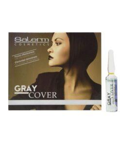 Ampolas para Cabelos Grisalhos Gray Cover Salerm (5 ml)
