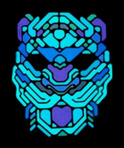 Máscara Led Leopardo