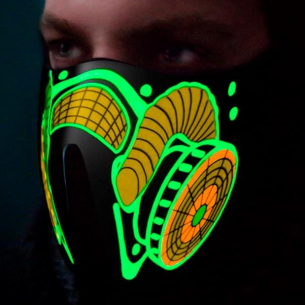 Máscara Antigás Led Verde