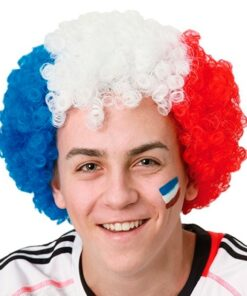 Peruca Afro Bandeira da França