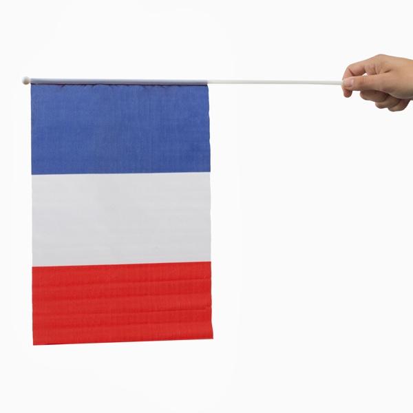 Bandeira de França com Mastro (46 x 30 cm)