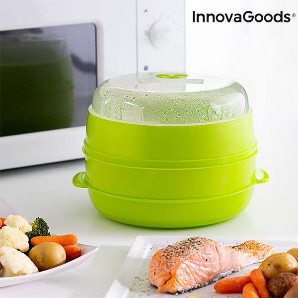 Vaporeira Dupla para Micro-Ondas Fresh InnovaGoods
