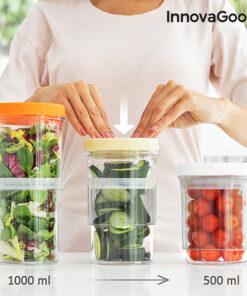Recipientes de Cozinha Ajustáveis e Herméticos InnovaGoods (Set de 3)