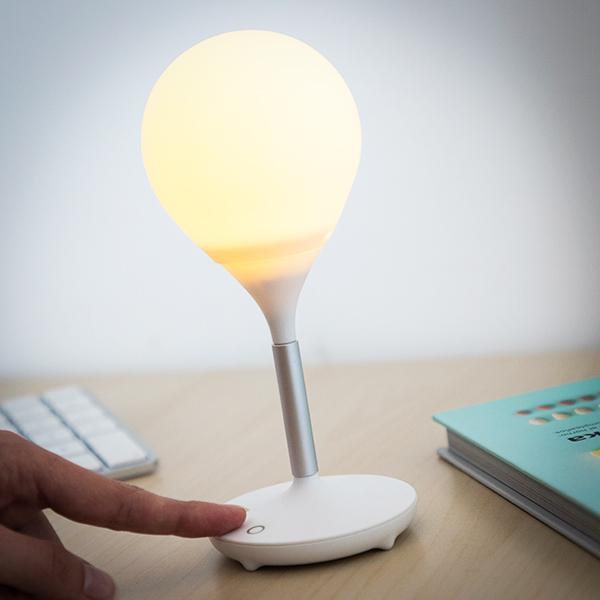 Lâmpada de Escritório Recarregável de Silicone USB (4 LED)