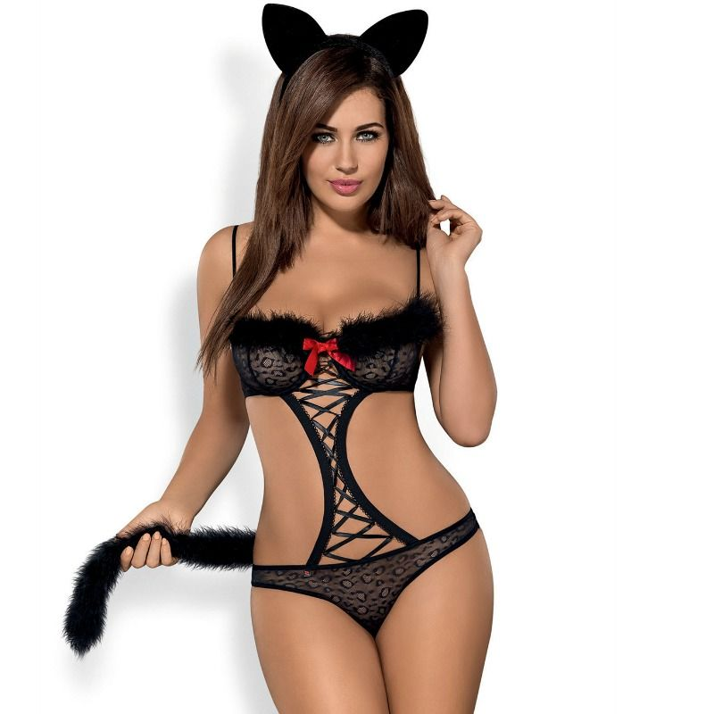 OBSESSIVE GEPARDINA 3PCS COSTUME S / M