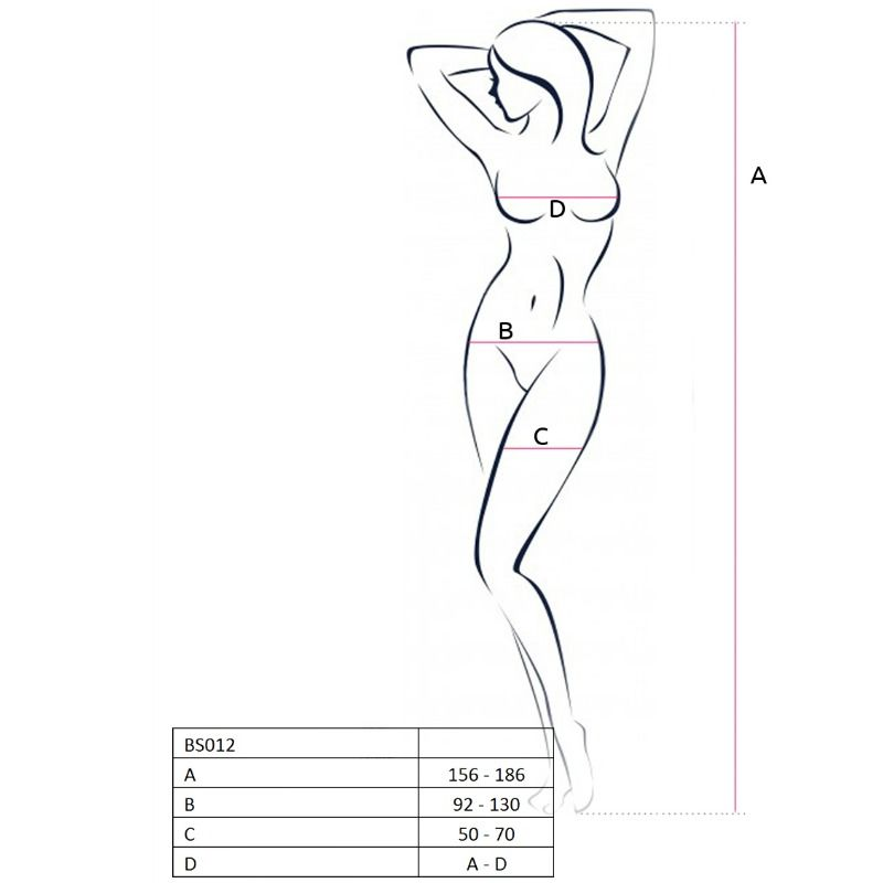 PASSION WOMAN BS012 BODYSTOCKING WHITE ONE SIZE