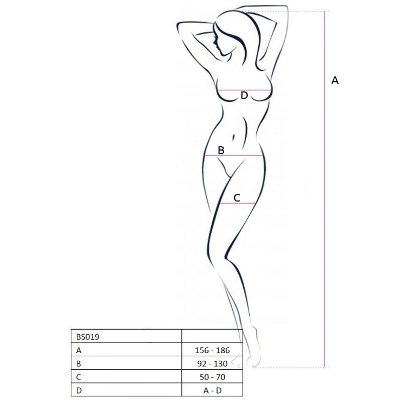 PASSION WOMAN BS019 BODYSTOCKING WHITE ONE SIZE