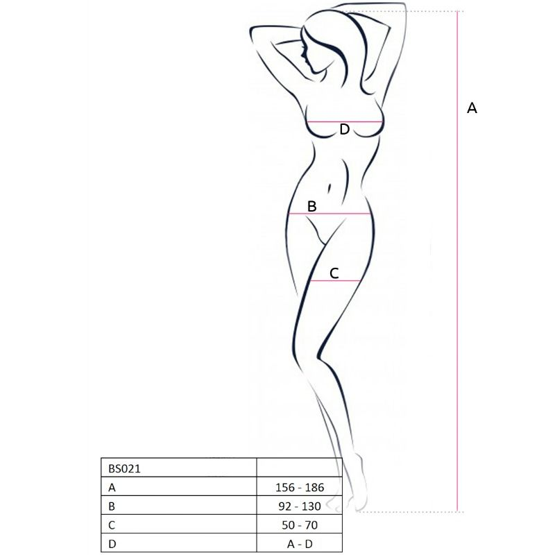 PASSION WOMAN BS021 BODYSTOCKING WHITE ONE SIZE