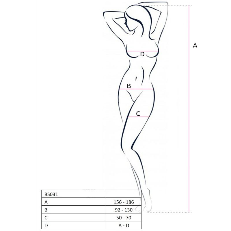 PASSION WOMAN BS031 BODYSTOCKING RED ONE SIZE