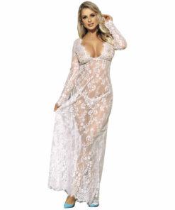 SUBBLIME LONG SLEEVE LONG DRESS WHITE S / M