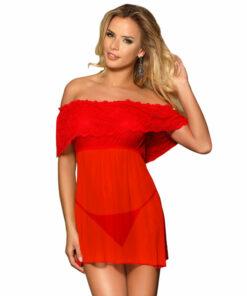 SUBBLIME SHORT DRESS + THONG RED L / XL