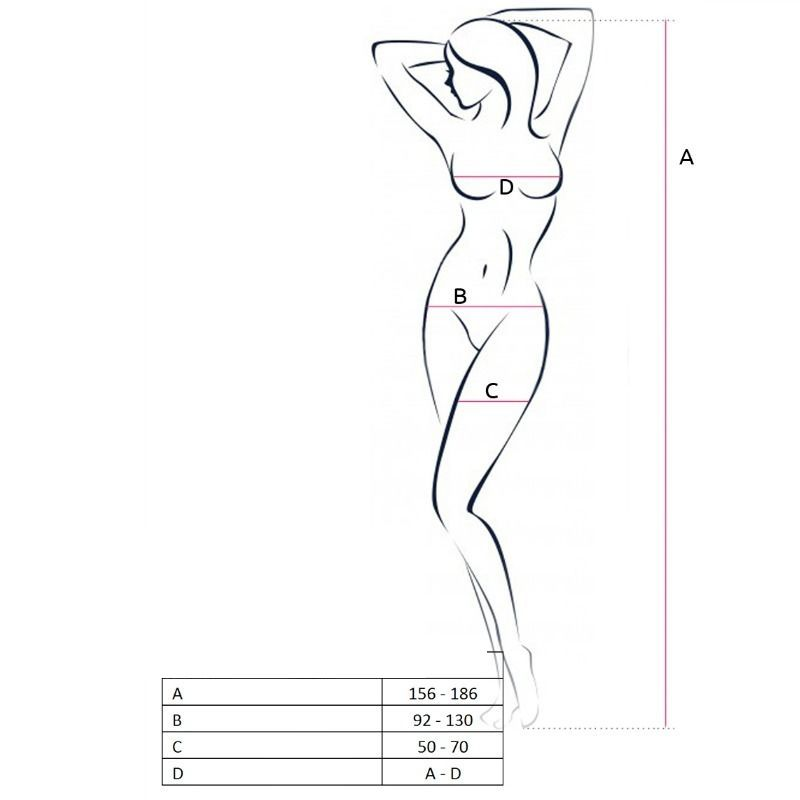 PASSION WOMAN BS055 BODYSTOCKING WHITE ONE SIZE