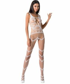 PASSION WOMAN BS058 BODYSTOCKING WHITE ONE SIZE
