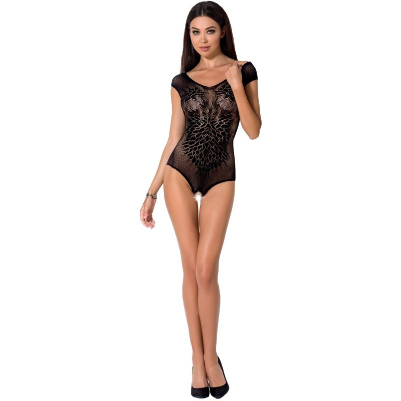 PASSION WOMAN BS064 BODYSTOCKING - BLACK ONE SIZE