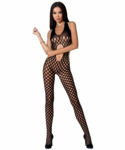 PASSION WOMAN BS065 BODYSTOCKING BLACK ONE SIZE