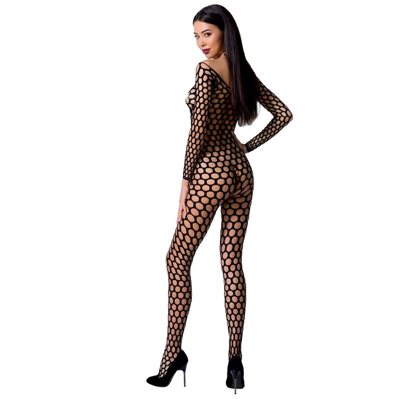 PASSION WOMAN BS077 BODYSTOCKING - BLACK ONE SIZE