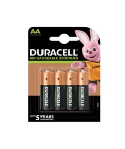 Pilhas Recarregáveis DURACELL DURDLLR6P4B AA NiMh 2500 mAh (4 pcs)