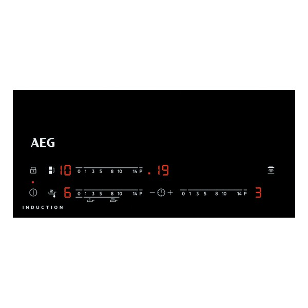 Placa de Indução Aeg IAE6344SFB Preto (3 Zonas de Cozedura) 60 cm