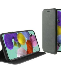 Capa tipo Livro para o Telemóvel Samsung Galaxy A51 KSIX Preto