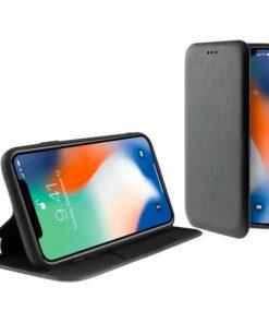 Capa tipo Livro para o Telemóvel Iphone 11 Pro KSIX Standing Preto