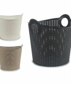 Cesto de Plástico Multiusos Rattan (38,5 x 37,5 x 40,5 cm)