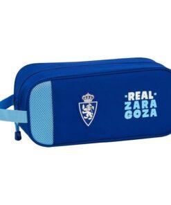 Bolsa para Sapatos de Viagem Real Zaragoza Azul Poliéster Azul Claro