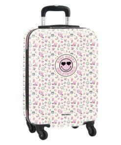 Trolley de Cabine Smiley World Garden Branco Cor de Rosa 20''