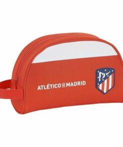 Nécessaire Escolar Atlético Madrid Branco Vermelho