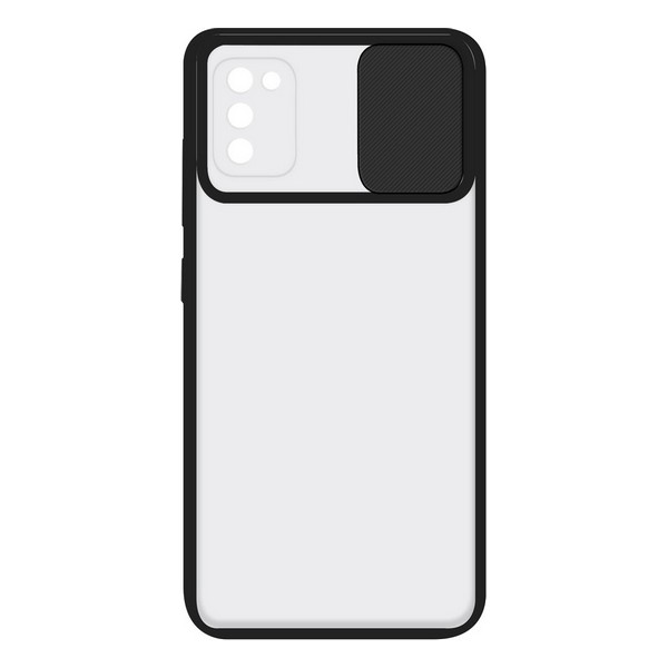 Capa para o Telemóvel com Extremidades em TPU Samsung Galaxy A41 KSIX Duo Soft Cam Protect Preto