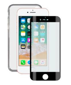 Protetor de vidro temperado para o telemóvel + Estojo para Telemóvel iPhone 7/8/SE2020 Contact