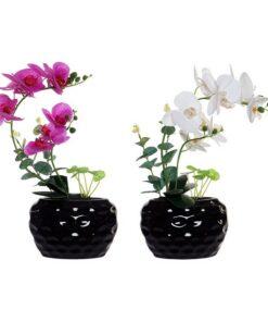 Flor Decorativa Dekodonia Espuma Cerâmica Ferro (2 pcs)