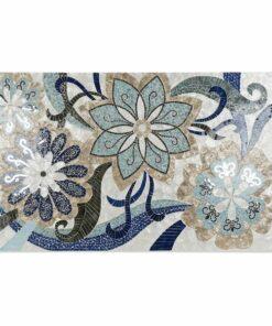 Pintura Dekodonia Floral Azul Turquesa Resina (122 x 4 x 80 cm)