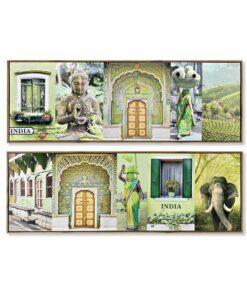 Pintura Dekodonia Índia Lacado (2 pcs) (120 x 2 x 40 cm)